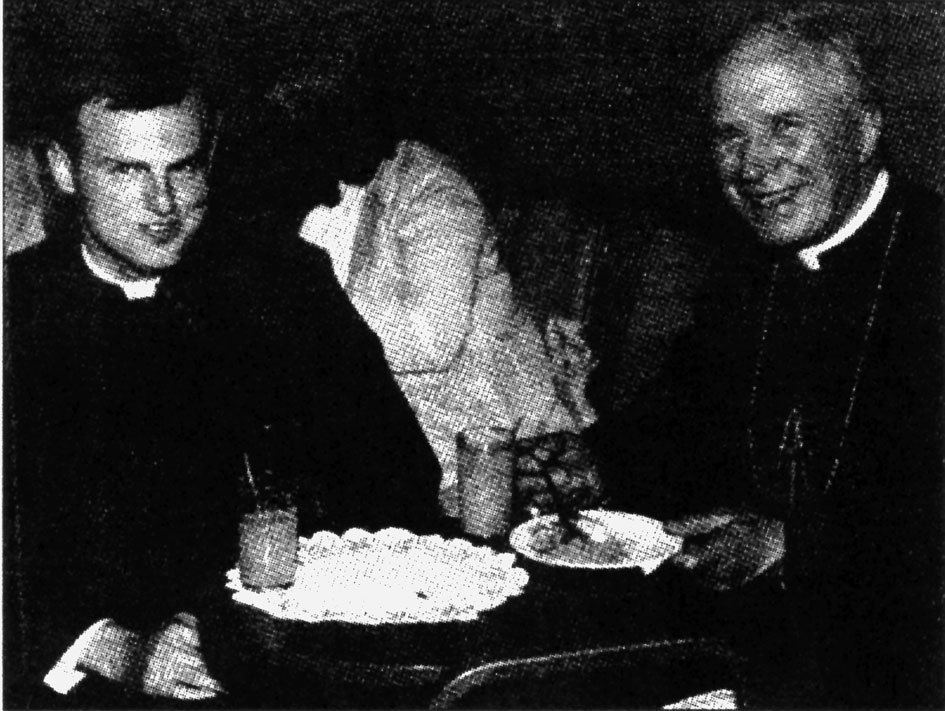the young rev. Sanborn with msgr. Lefebvre